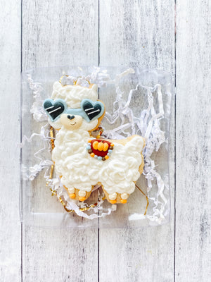 Fall Lama Cookie