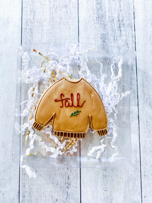 Fall Sweater Cookie