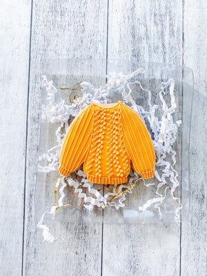 Knitted Fall Sweater Cookie
