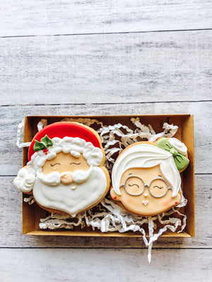 Mr & Mrs Claus Cookies
