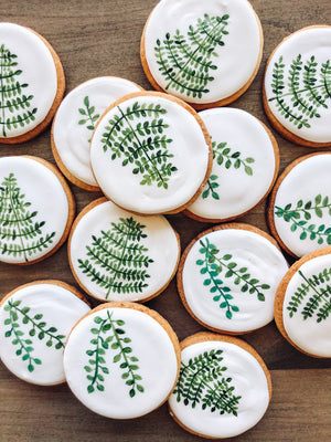 Painted Leaf Cookies
