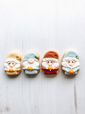 Fall Mini Gnome Cookies