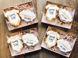 Pregnancy Announcement Cookies