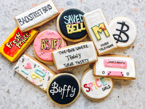 90's Birthday Cookies