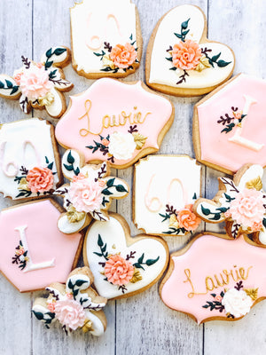 Floral Birthday Cookies