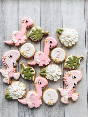 Dino Birthday Cookies