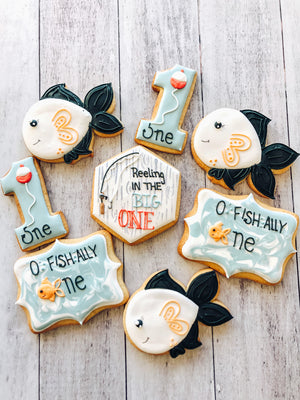 Fish Birthday Cookies