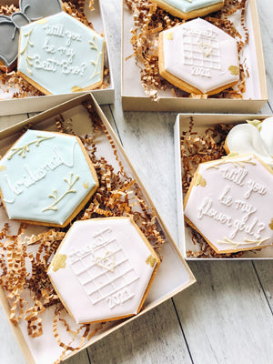 Bridesmaid/Groomsmen Proposal Cookies