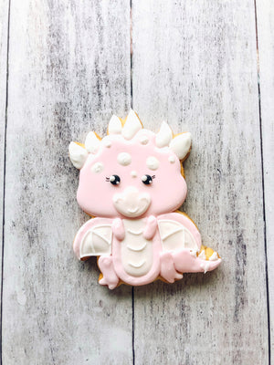 Pink Dragon Cookie