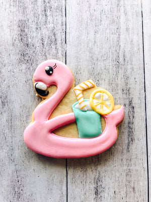 Flamingo Floaty Cookie