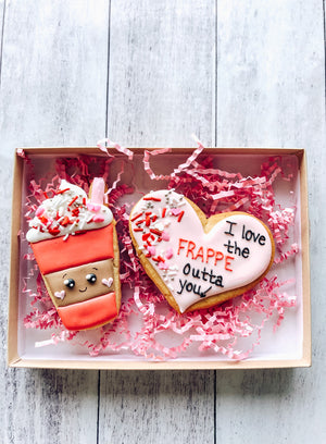 Frappe Love Valentine's Cookies