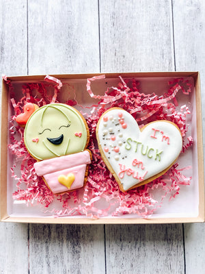 Stuck On You Valentine's Cookies