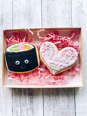 Sushi Love Valentine's Cookies