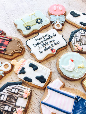 Barnyard Baby Shower Cookies