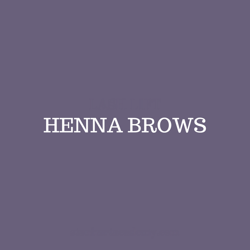 Henna Brows Certification - April 11th