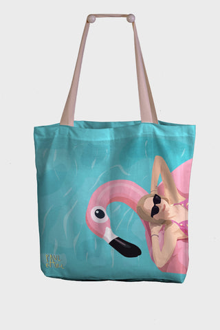 Borsa Mare / Shopper Paul Earl - Flamingo