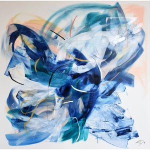 "To Swim Ashore 48"" x 48"""