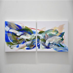 "Flying - 24"" x 48"" (diptyque)"