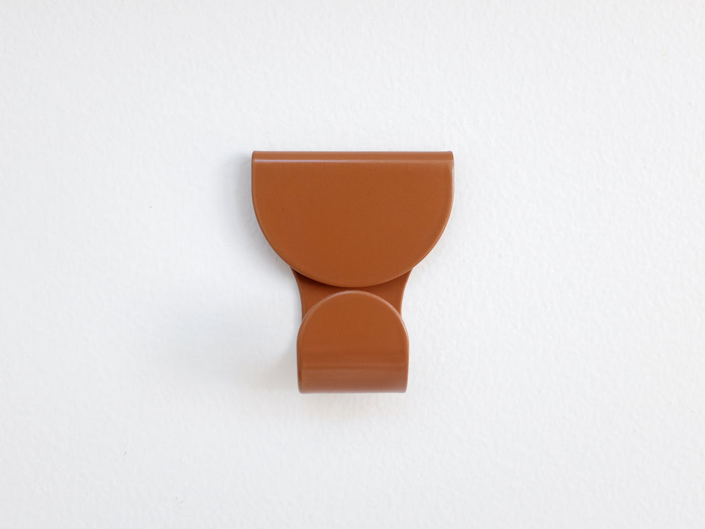 Waltz Place Minimal Wall Hook in Cinnamon