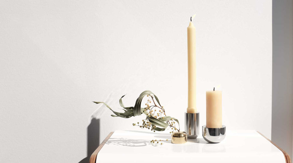 Waltz Design Candle Holders and Brass Incense holder