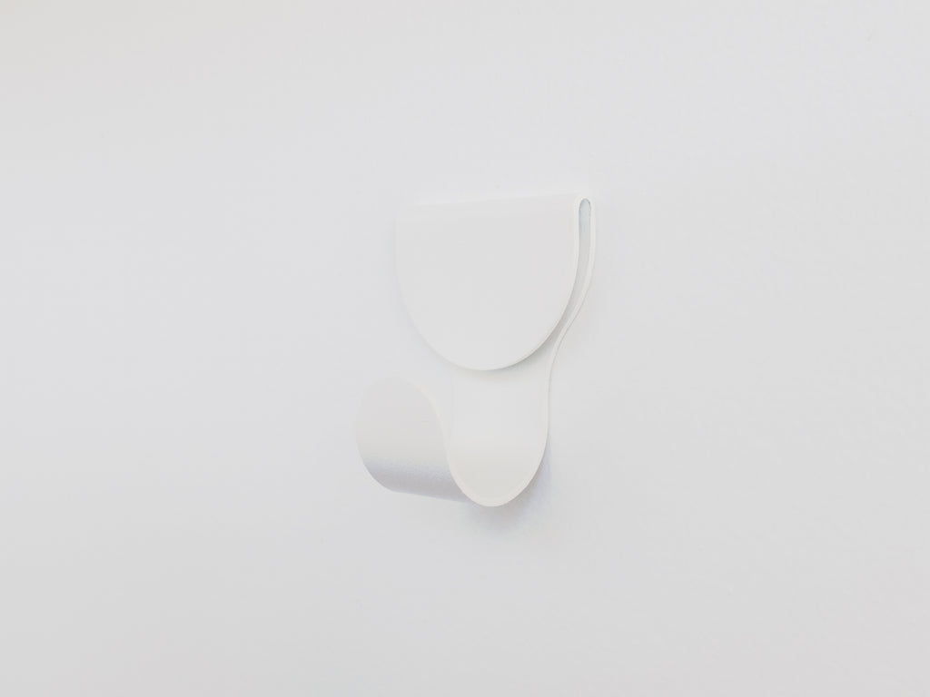 Waltz Place Minimal Wall Hook in Matt White