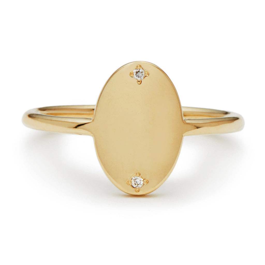 oval diamond guardian signet ring