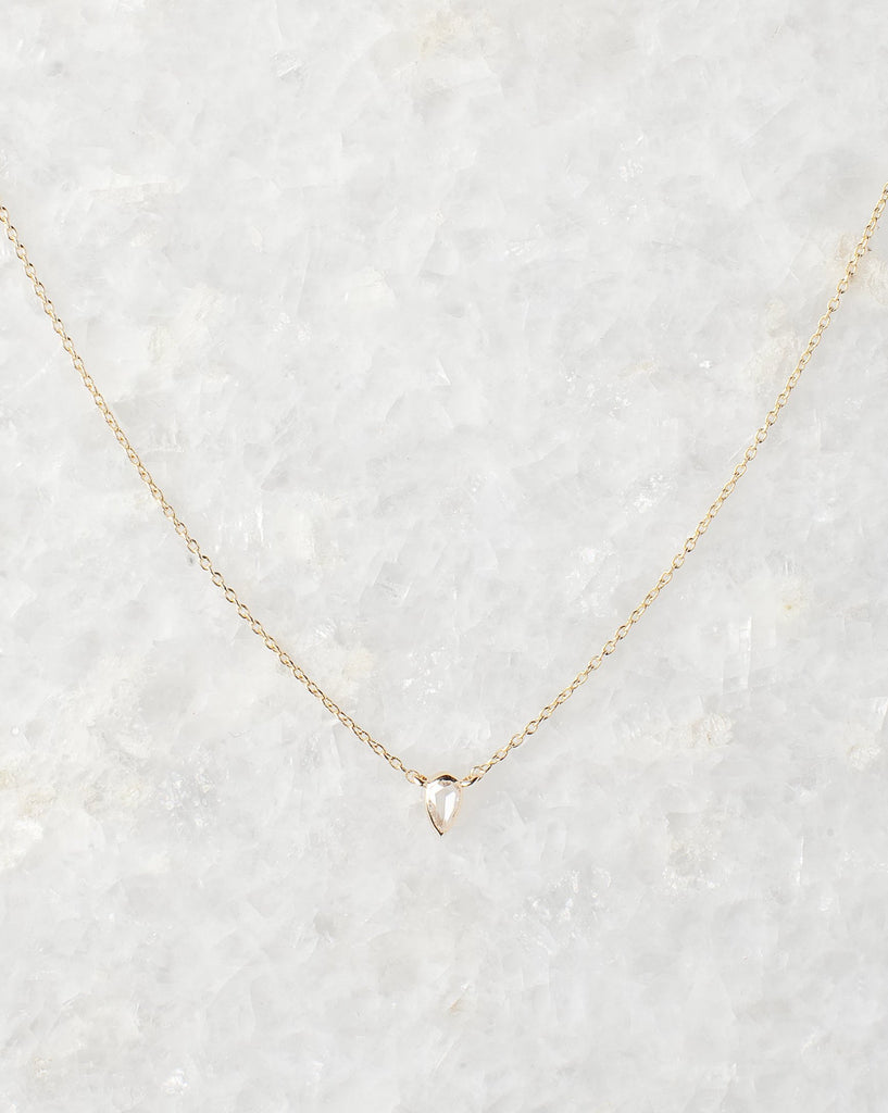 pear shaped rose cut diamond necklace