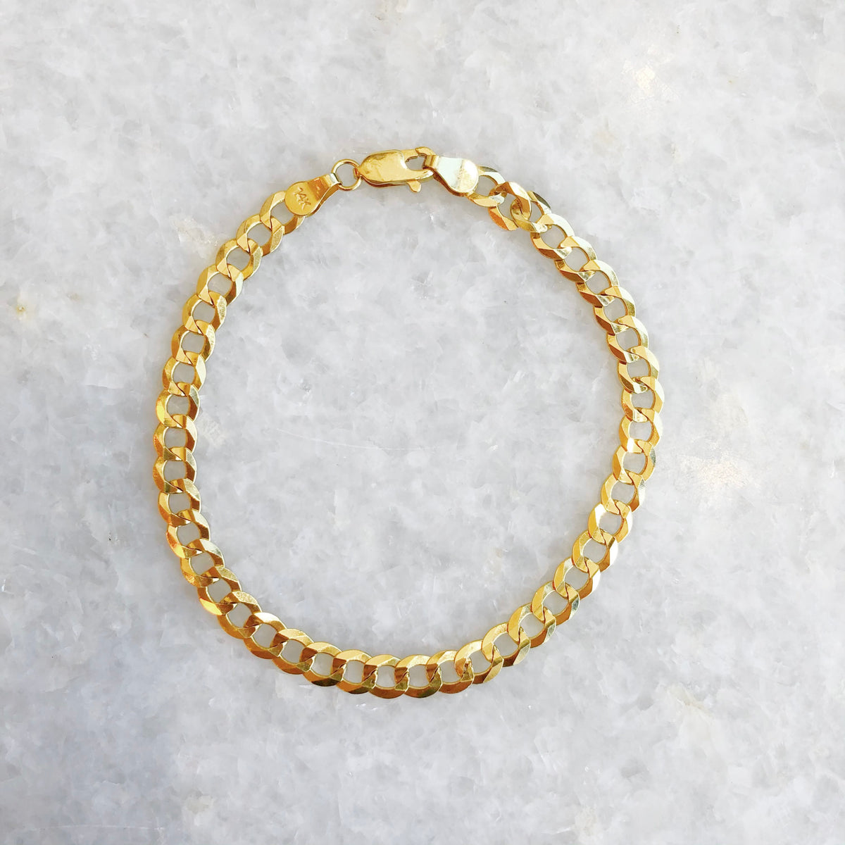 """the babe"" curb chain bracelet"