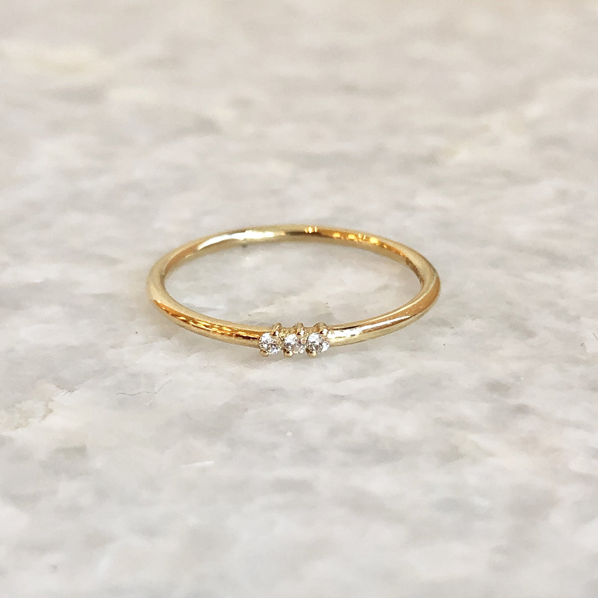 3 Diamond Stack Ring