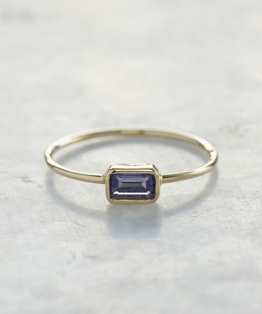 mini emerald cut stacking rings