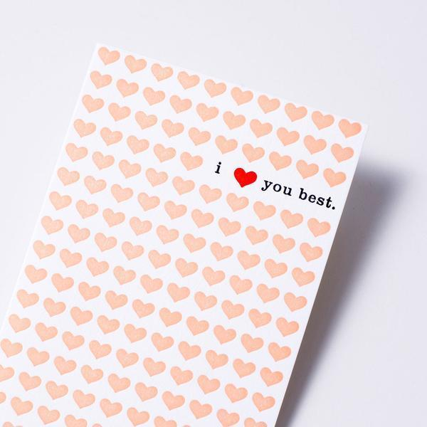 i love you best card