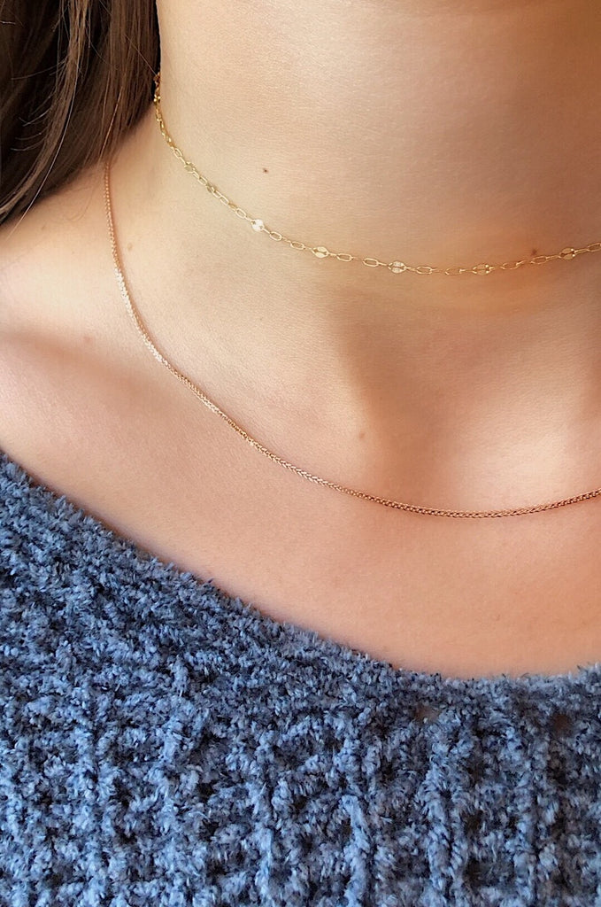 fox feather layering chain