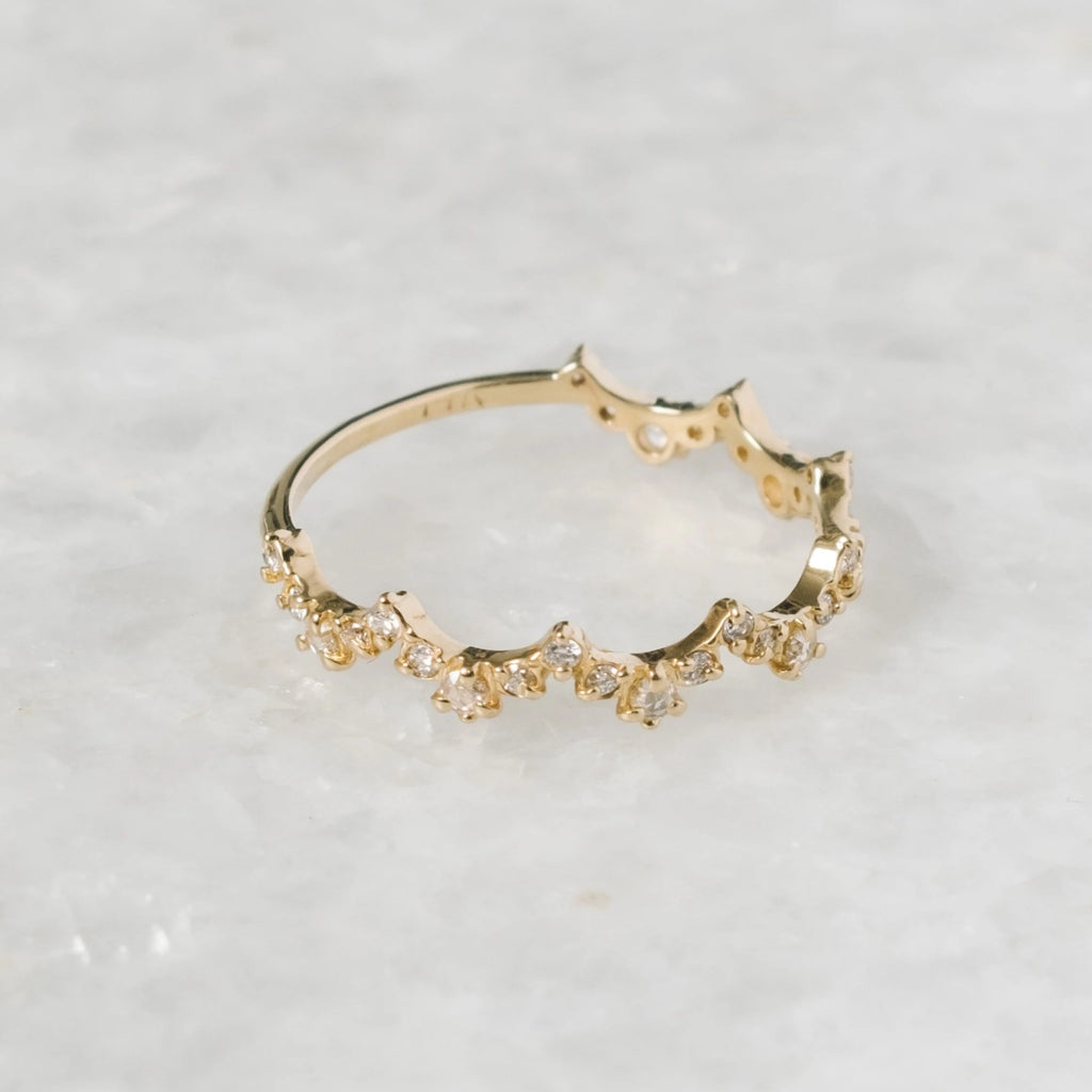 diamond lace edge ring