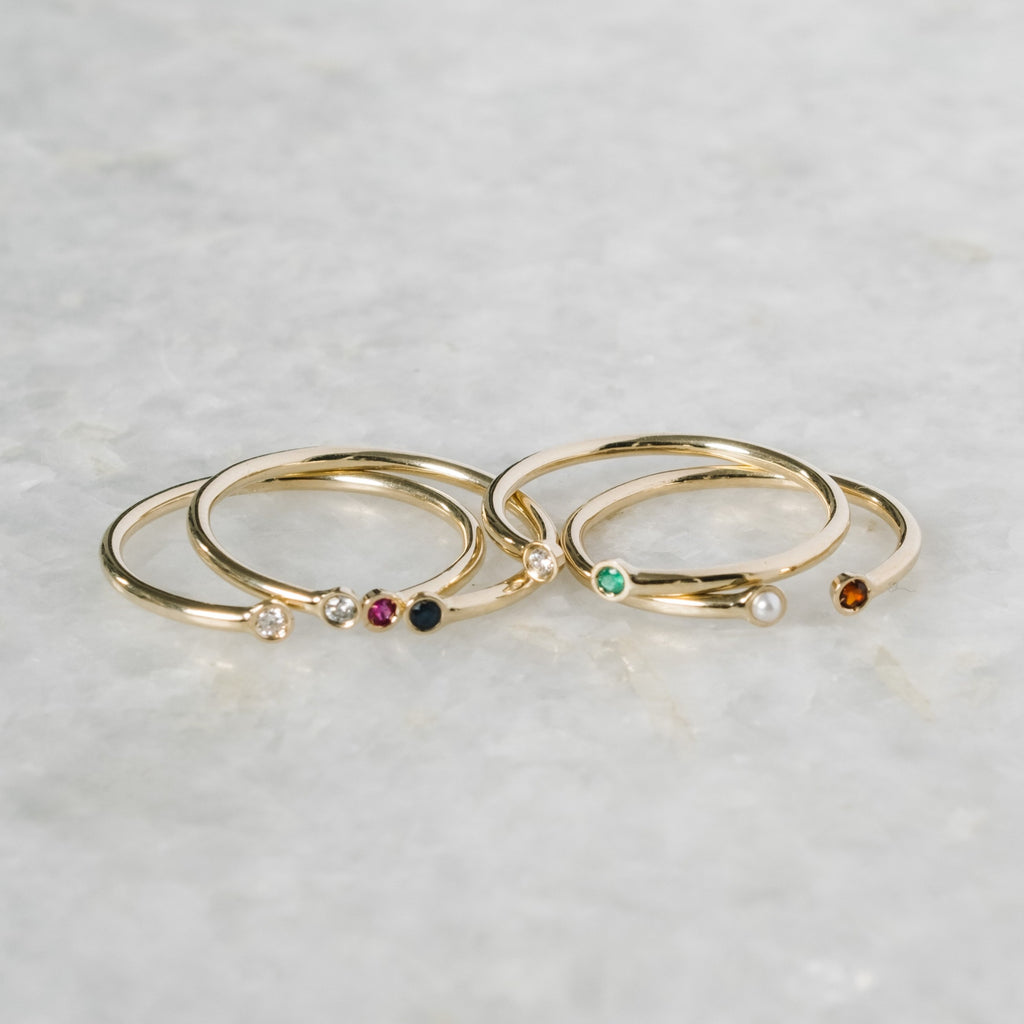 dual birthstone ring