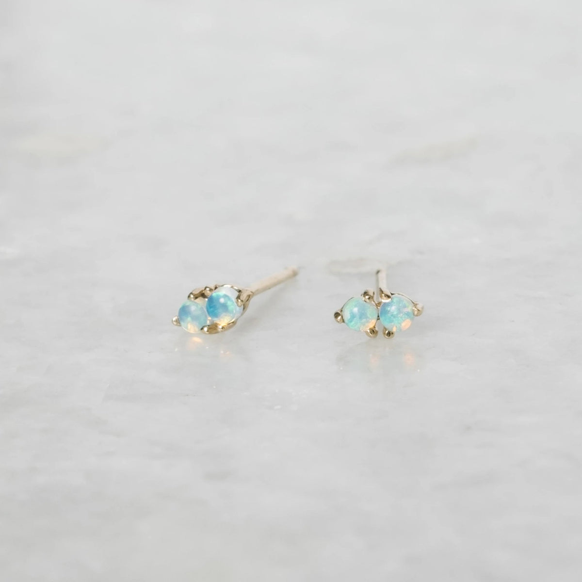 two step opal earring