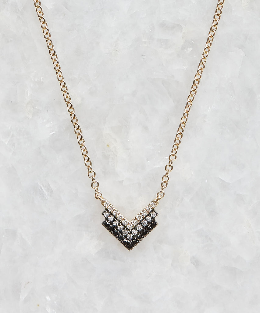 diamond fade shield necklace