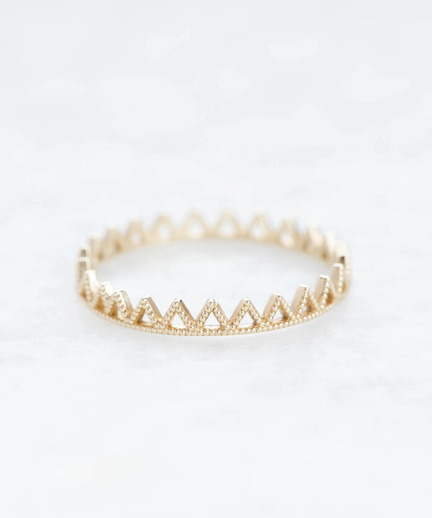beaded triangle eternity