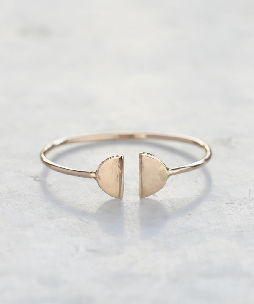 baby girl half moon ring