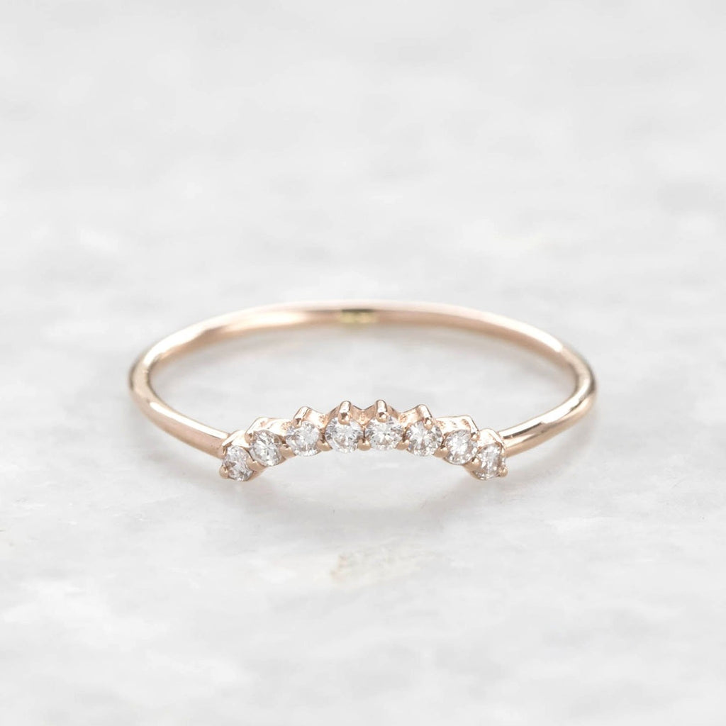 diamond cascade ring