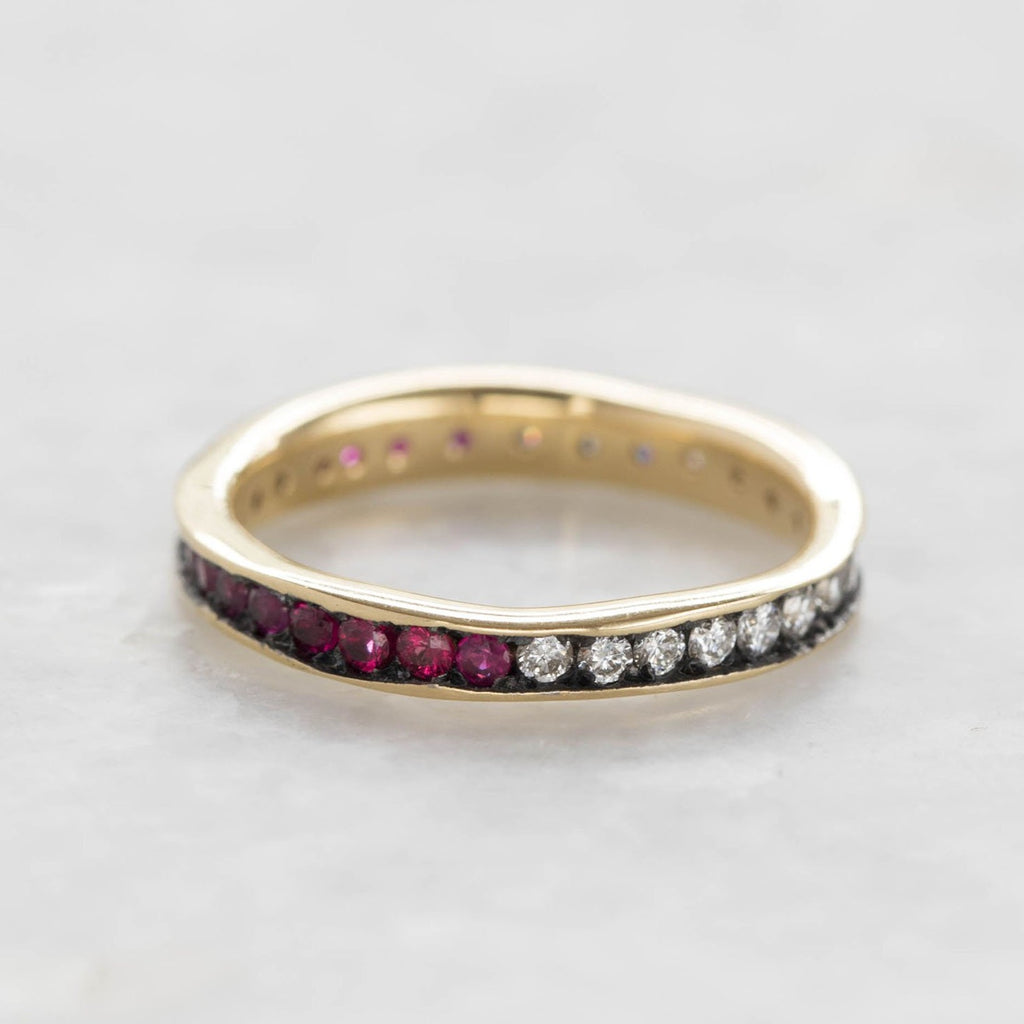 diamond and ruby split eternity band