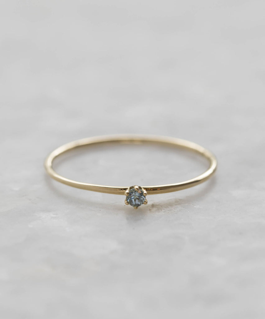 baby aquamarine ring