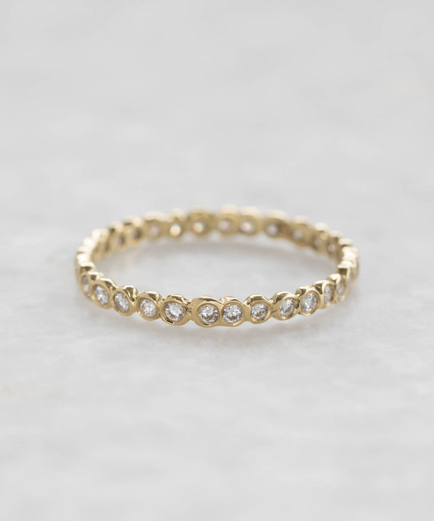 small diamond circle eternity band
