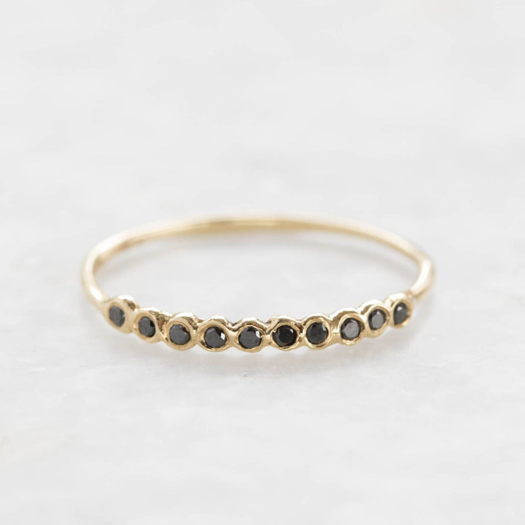 ten diamond ring - black diamond