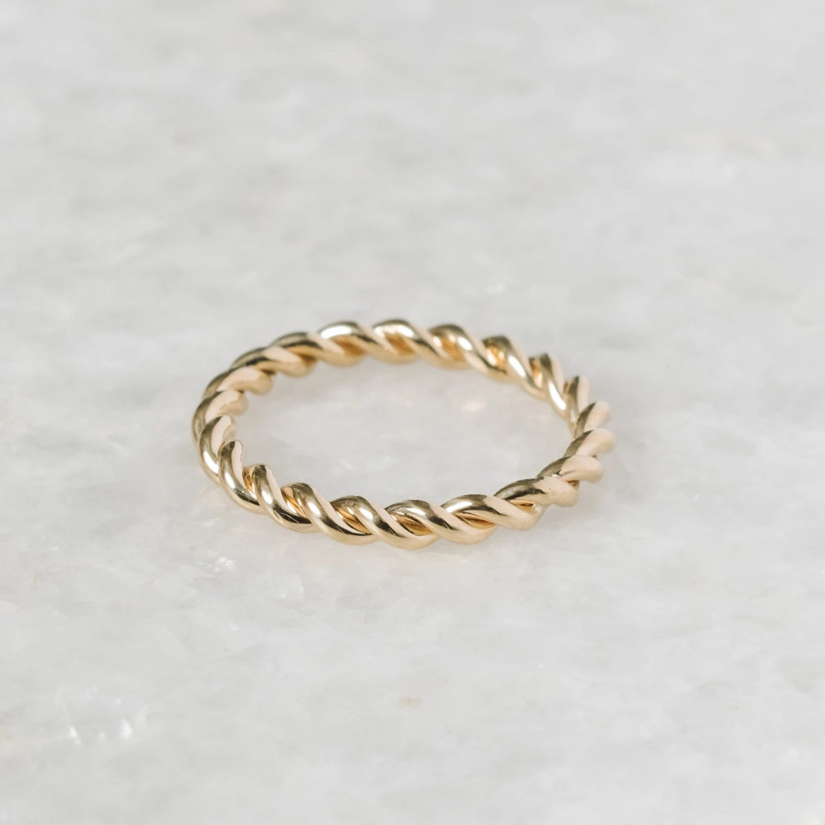 twine ring - 7 - 14k yellow gold
