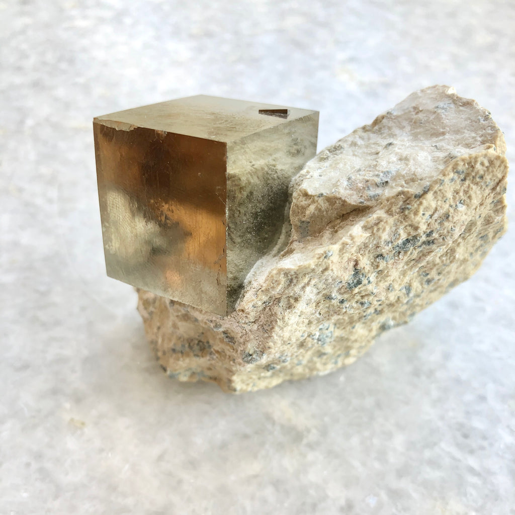 Large Format Pyrite Cube on Matrix