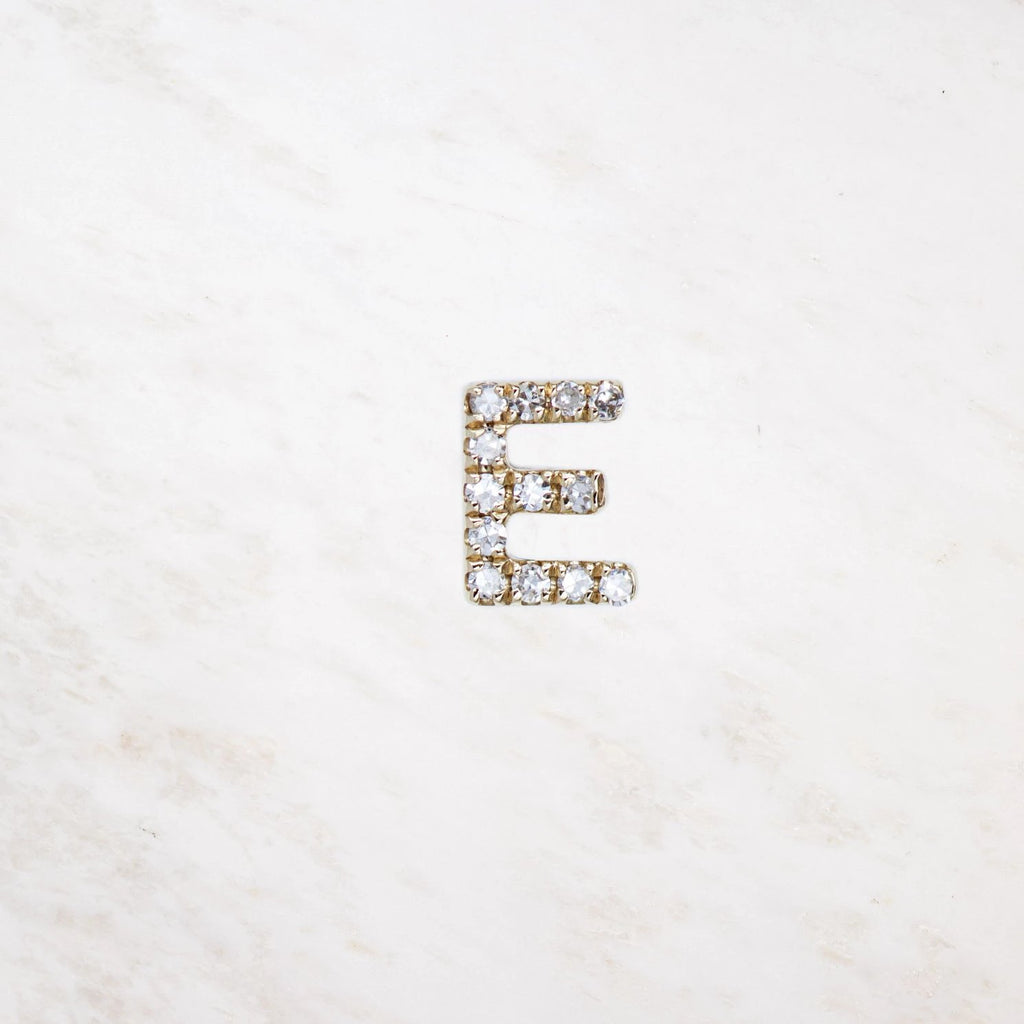 mini diamond initial stud