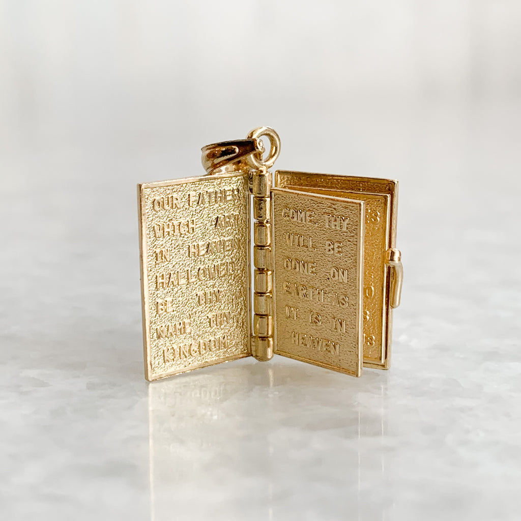 vintage holy bible charm
