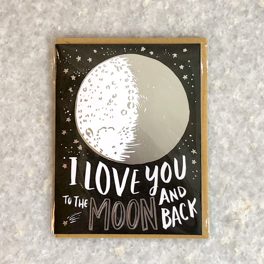 """to the moon"" card"