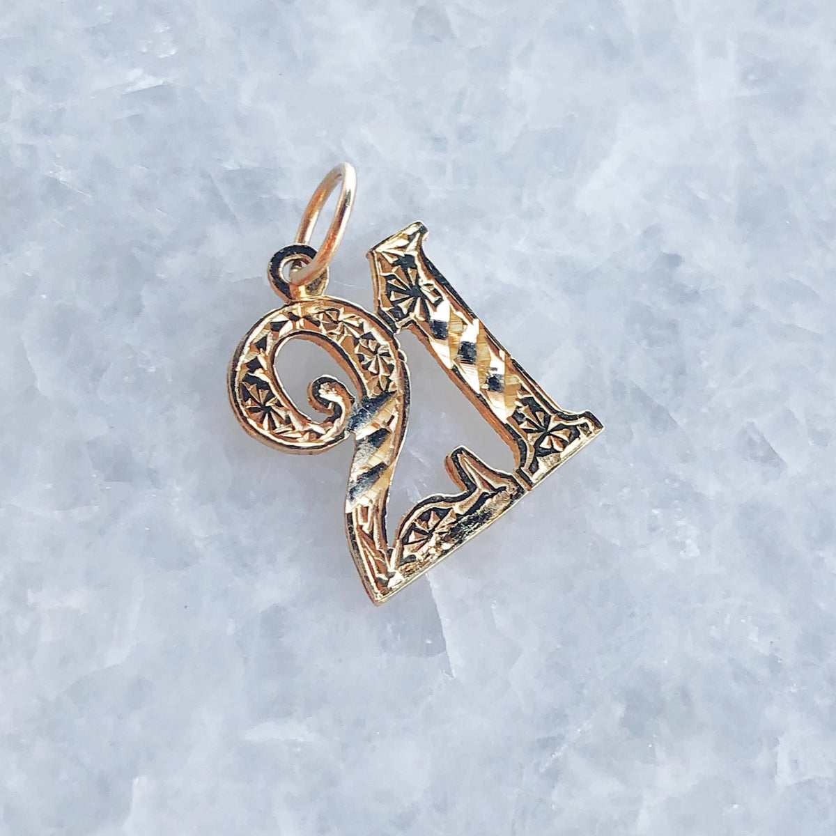 "Vintage Detailed ""21"" Charm"