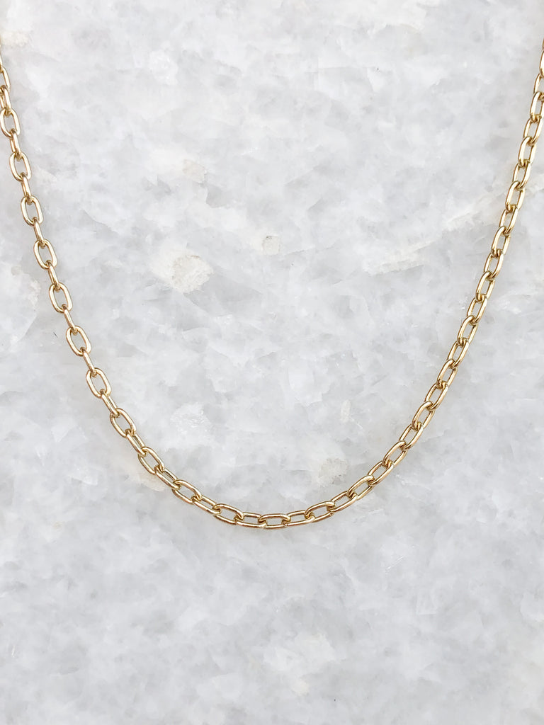 square oval link chain necklace